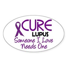 CURE Lupus 2 Oval Decal