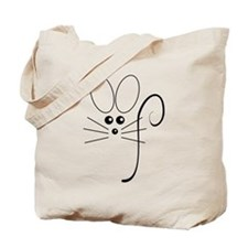Black Mouse Tote Bag