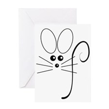 Black Mouse Greeting Card