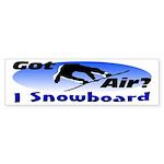 I Snowboard Bumper Sticker (10 pk)