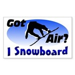 I Snowboard Rectangle Sticker
