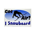 I Snowboard Rectangle Magnet (100 pack)
