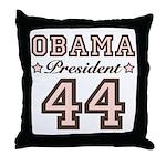 President Obama 44 Throw Pillow