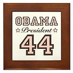 President Obama 44 Framed Tile