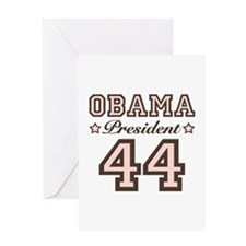 President Obama 44 Greeting Card