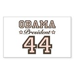 President Obama 44 Rectangle Sticker