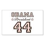 President Obama 44 Rectangle Sticker 10 pk)