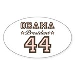 President Obama 44 Oval Sticker (10 pk)