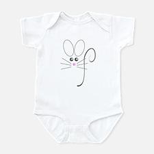 Gray Mouse Infant Bodysuit