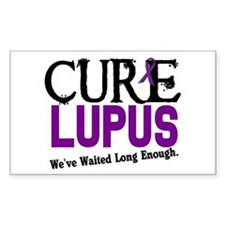 CURE Lupus 3 Rectangle Decal