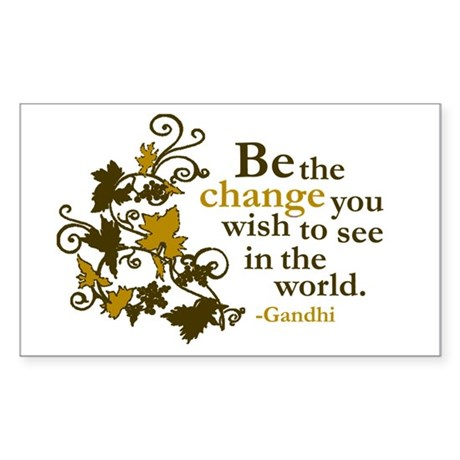 Gandhi Rectangle Sticker 50 pk)
