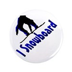 "I Snowboard 3.5"" Button (100 pack)"