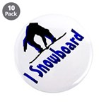 "I Snowboard 3.5"" Button (10 pack)"