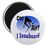 """I Snowboard 2.25"""" Magnet (10 pack)"""