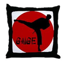 Gaige Martial Arts Throw Pillow