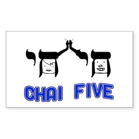 Chai Five Rectangle Sticker