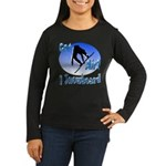 I Snowboard Women's Long Sleeve Dark T-Shirt