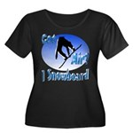 I Snowboard Women's Plus Size Scoop Neck Dark T-Sh