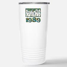 Retro Flower Power 1989 Travel Mug