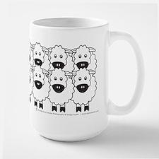 Cattle Dog and Sheep Large Mug