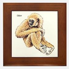 Gibbon Ape Framed Tile