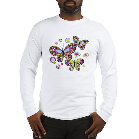 Colorful Butterflies Long Sleeve T-Shirt