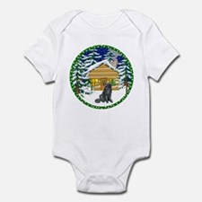 Old Fashioned Newfie Christmas Infant Bodysuit