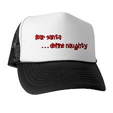 """Define Naughty"" Christmas Trucker Hat"