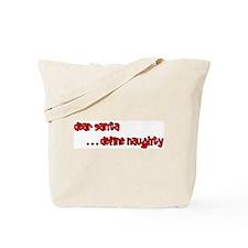 """""""Define Naughty"""" Christmas Tote Bag"""