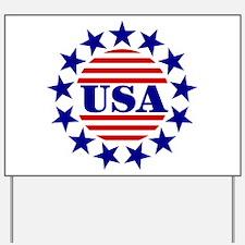 USA! USA! Yard Sign