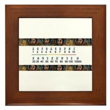 Ethiopian Design Framed Tile