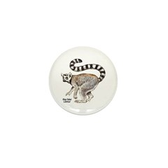 Ring-Tailed Lemur Mini Button (10 pack)
