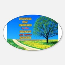 Narrow Minded Oval Decal