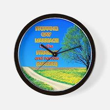 Narrow Minded Wall Clock