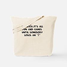 Fun and games Dyslexia Tote Bag