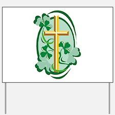 Irish Cross Yard Sign
