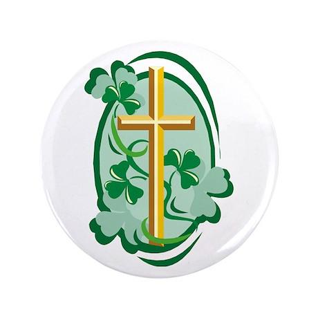 "Irish Cross 3.5"" Button (100 pack)"