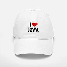 I Love Iowa Baseball Baseball Cap