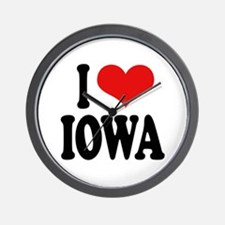I Love Iowa Wall Clock