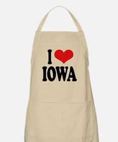 I Love Iowa BBQ Apron