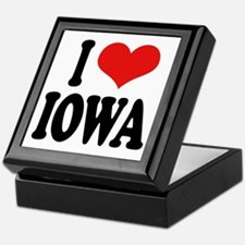 I Love Iowa Keepsake Box