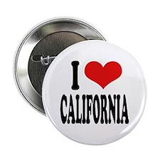 """I Love California 2.25"""" Button"""