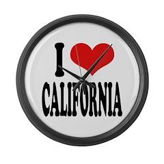 I Love California Large Wall Clock