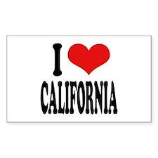I Love California Rectangle Decal