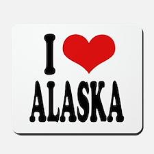 I Love Alaska Mousepad