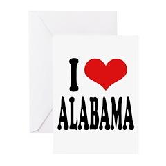 I Love Alabama Greeting Cards (Pk of 20)