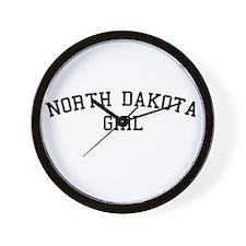 North Dakota Girl Wall Clock