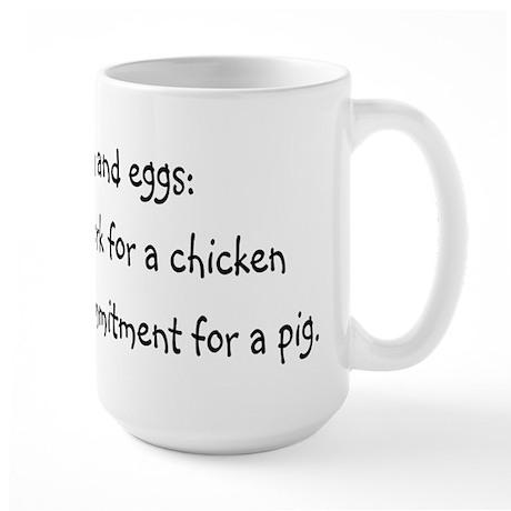 Ham and eggs Large Mug