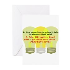 Director Light Bulb Greeting Cards (Pk of 20)