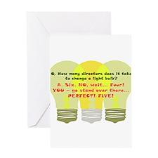 Director Light Bulb Greeting Card